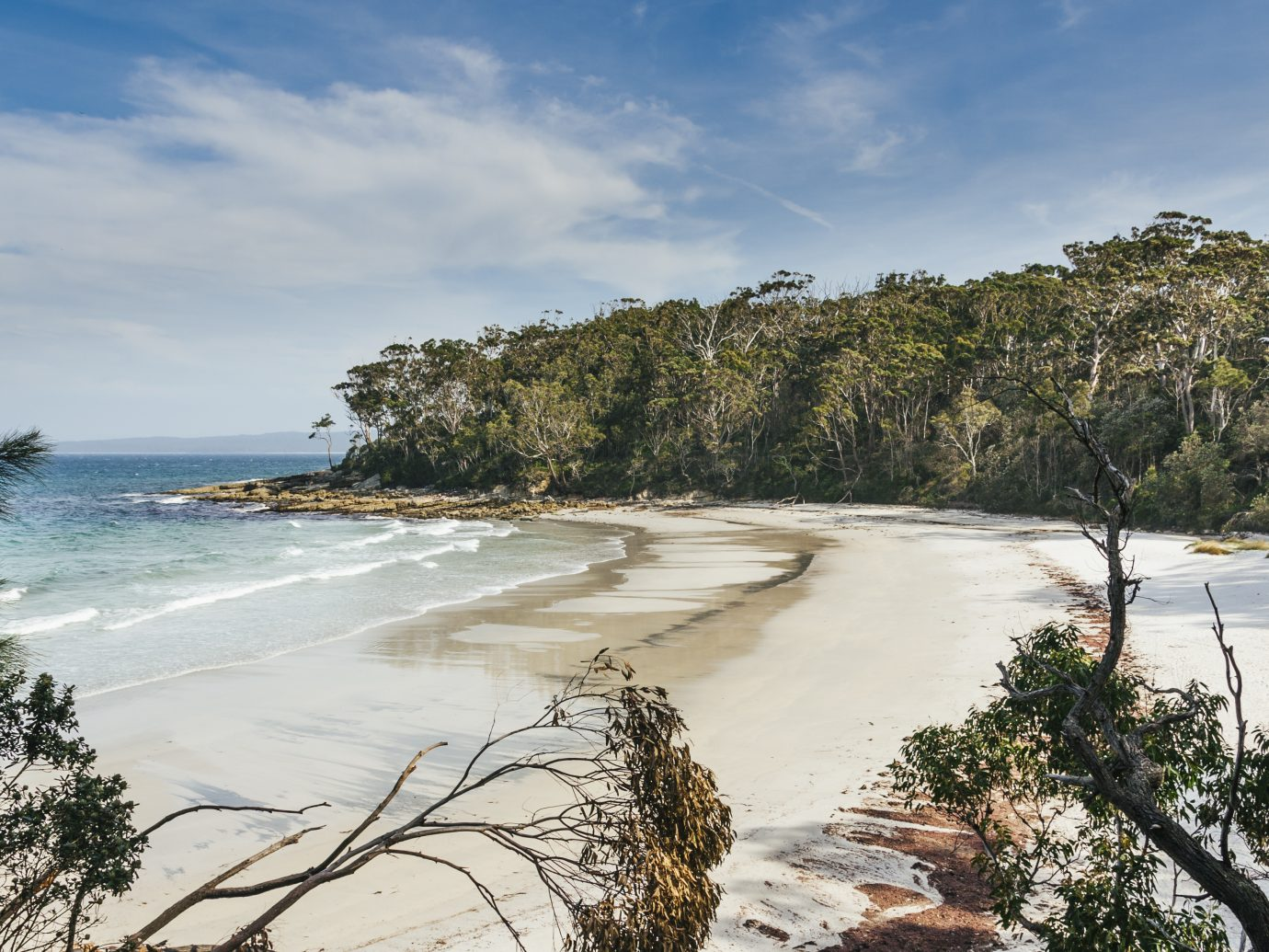 white sand coves at Jervis Bay in New South Wales, Australia.