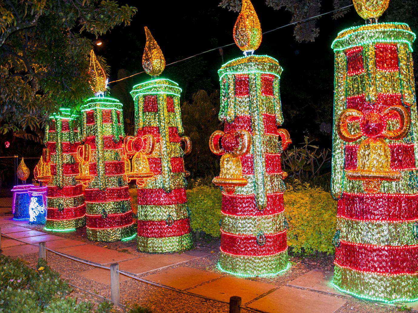 Some Christmas decoration at the North Park (Parque Norte) in Medellin, Colombia