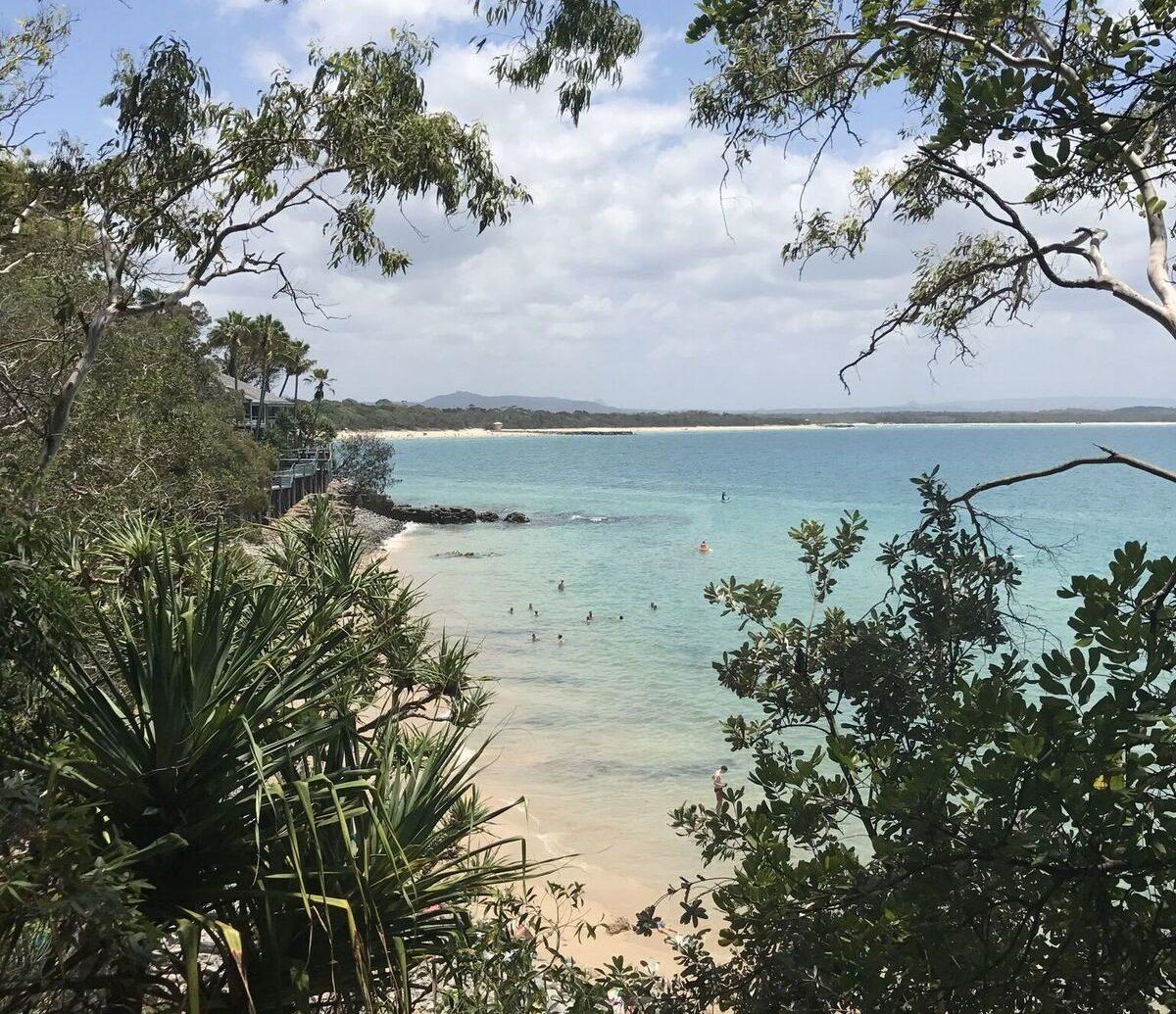 Noosa beach in Australia