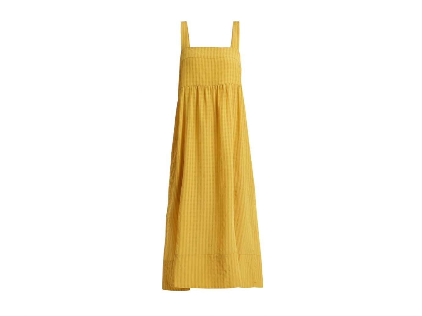 LEE MATHEWS Rothko square-neck long dress