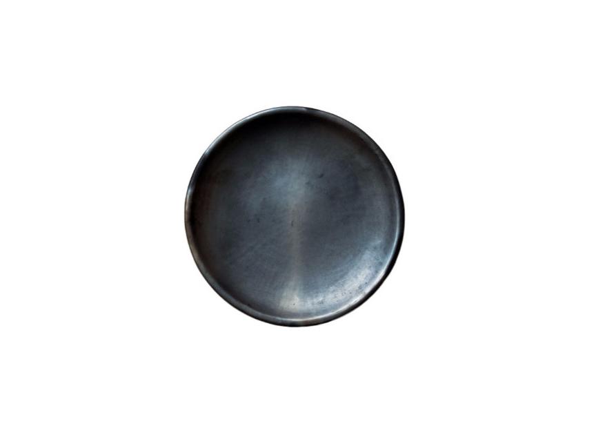 Black Clay Salad Plate, Set of 4, barro nergro plate from Oaxaca