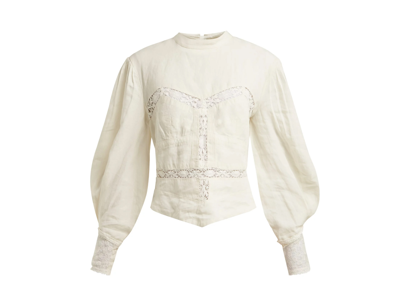 Isabel Marant Lyneth lace high-neck top