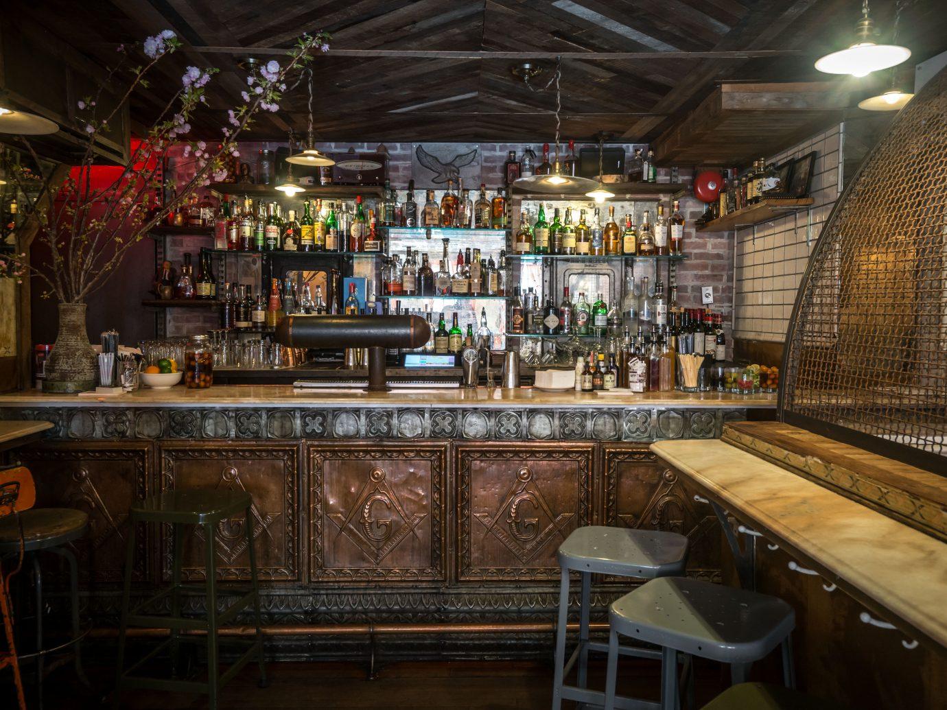 the bar at Tiny's NYC