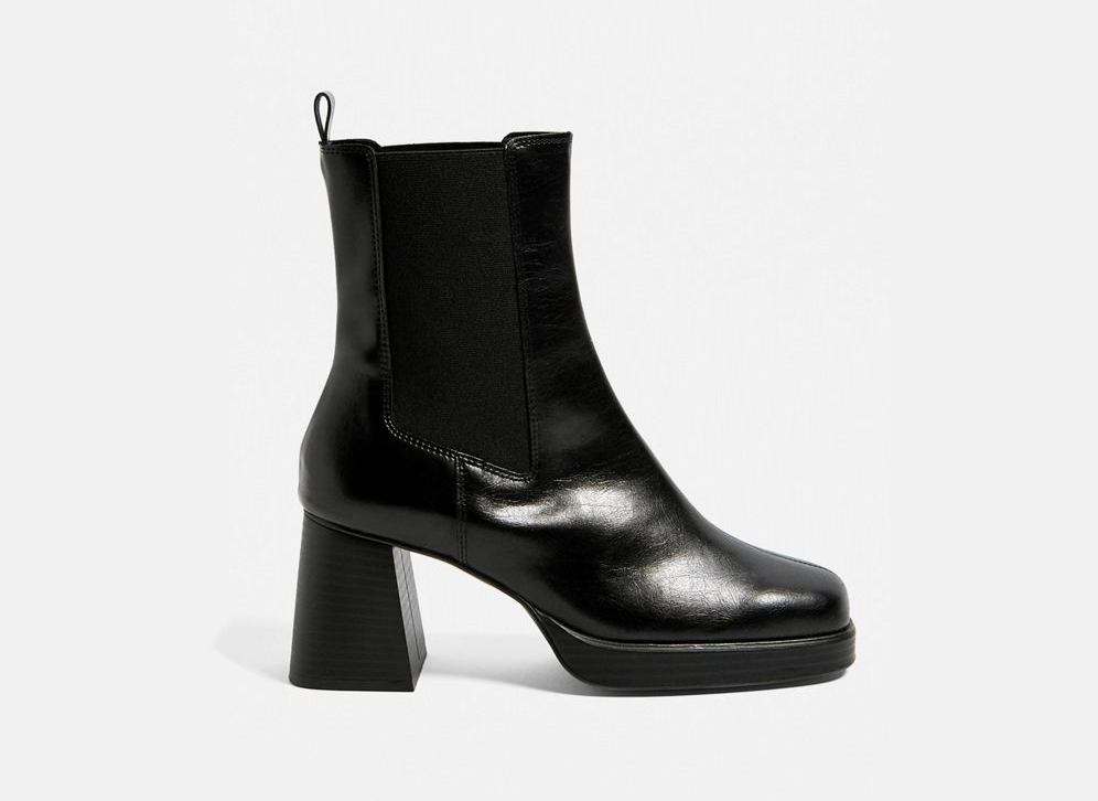 Urban Outfitters Faux Leather Block Heel Chelsea Boot
