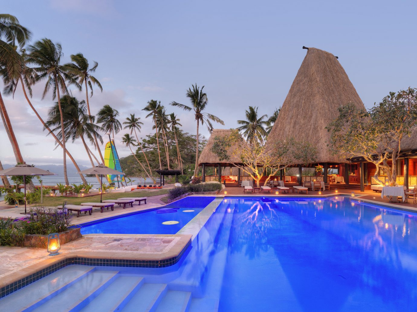 View of the pool at Jean-Michel Cousteau Resort