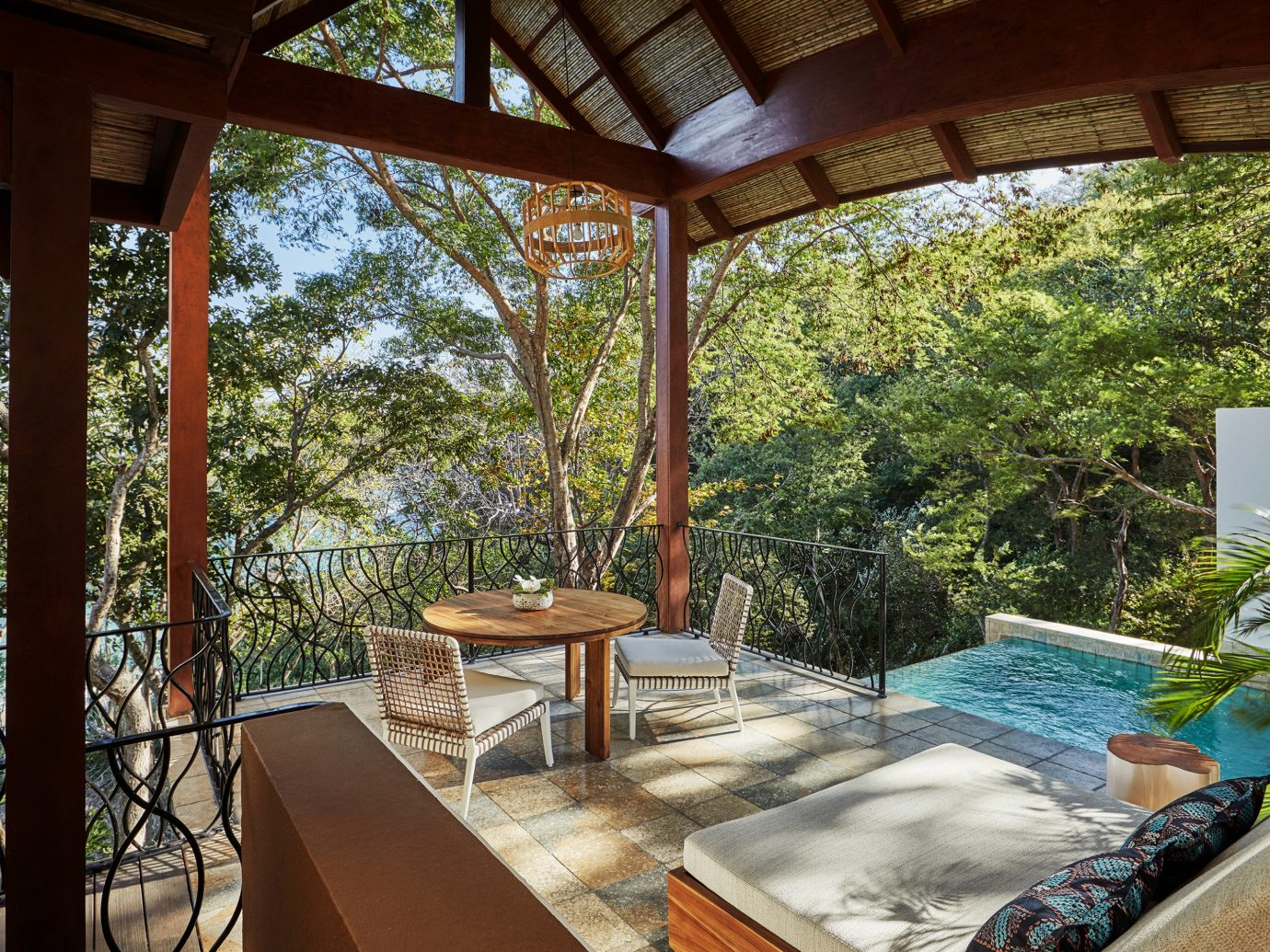 Outdoor private space at the Four Seasons Costa Rica