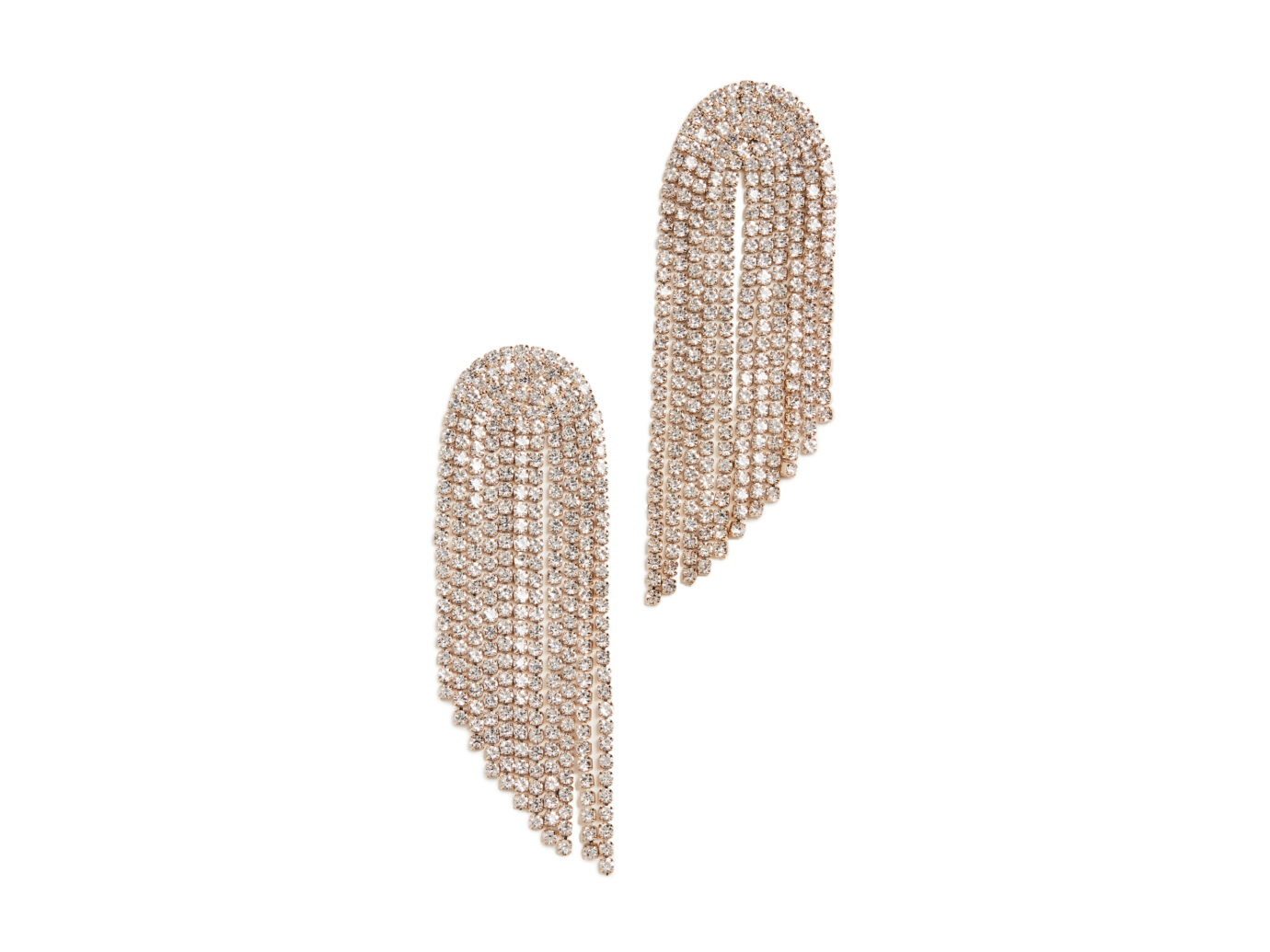 Stella + Ruby Crystal Fringe Earrings
