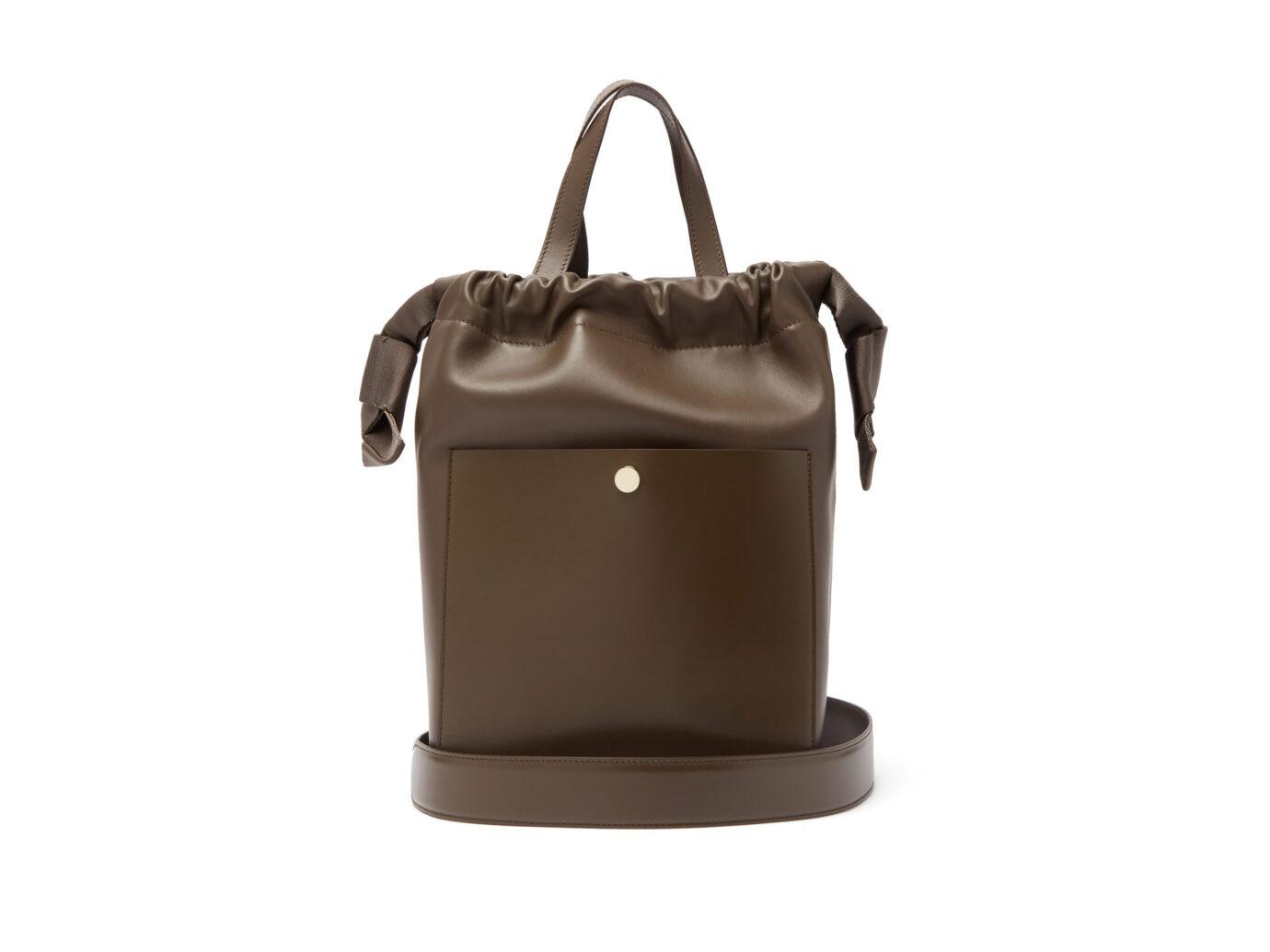 Sophie Hulme Knot leather shoulder bag