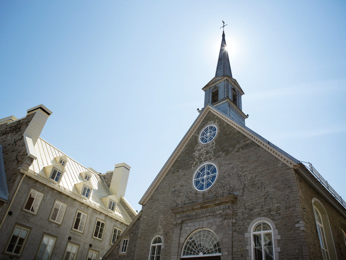 old church and building in Quebec City