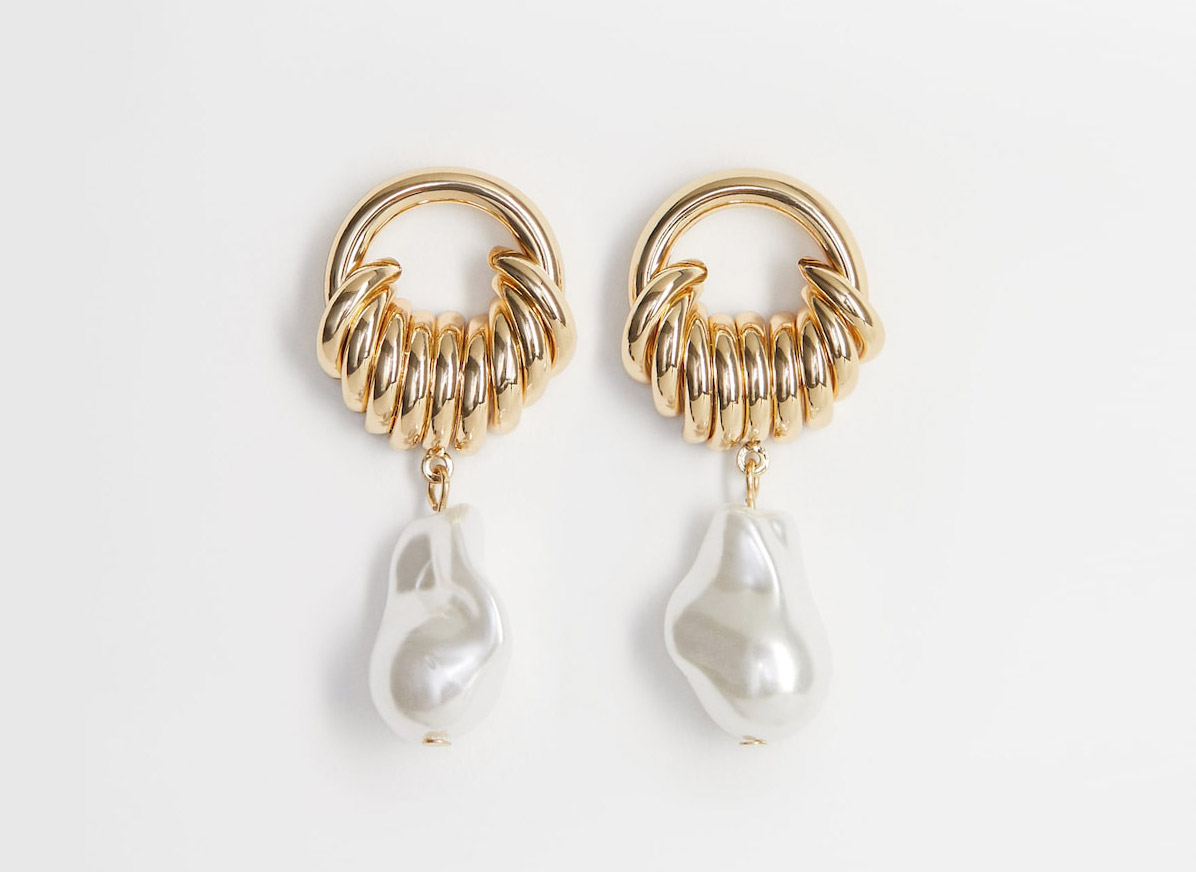 Mango Mixed Asymmetric Earrings