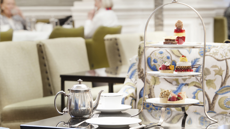 High tea at the Balmoral hotel