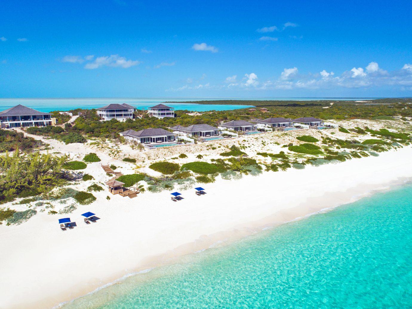 Aerial view of SailRock Resort