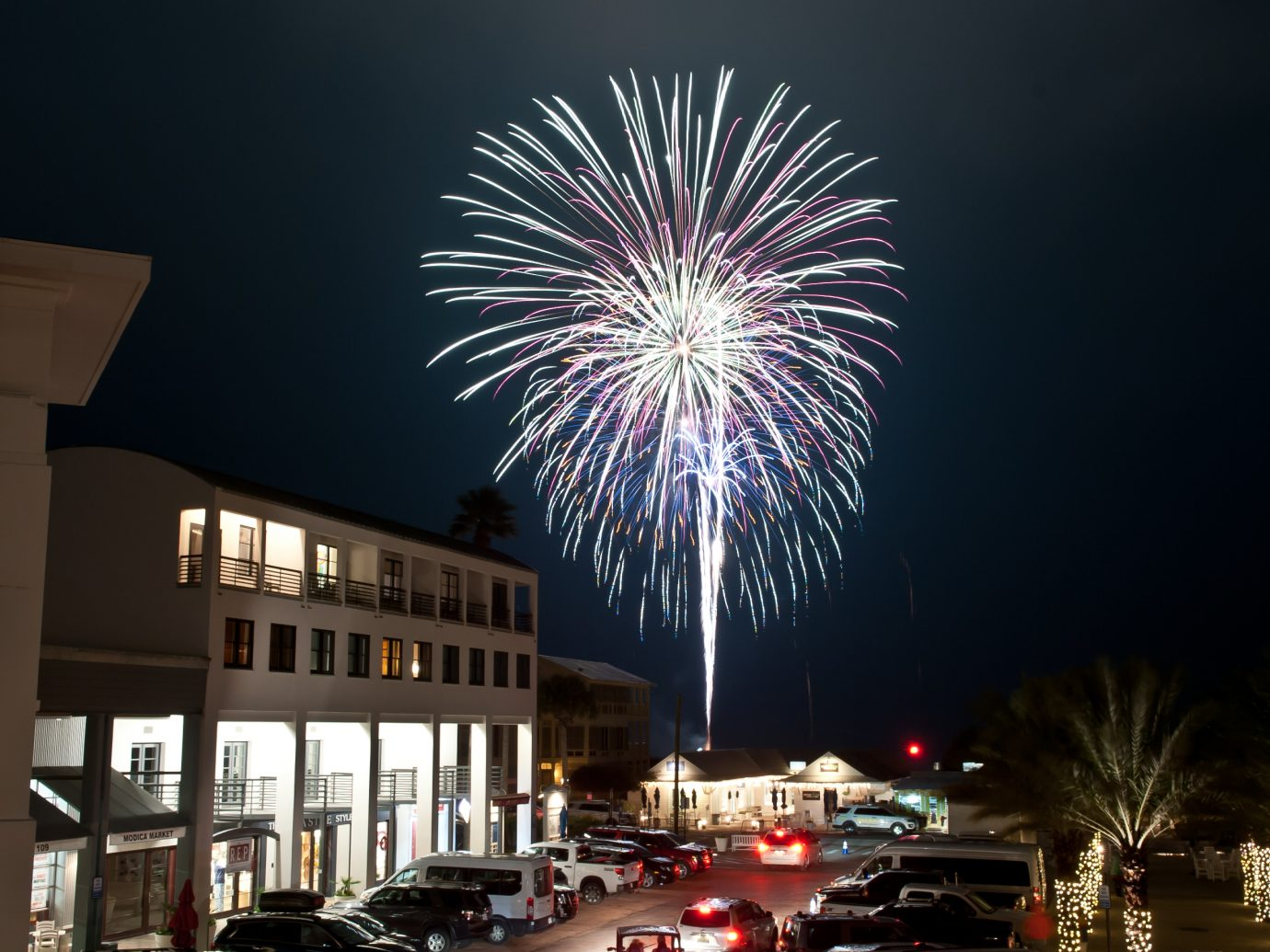 Fireworks display in Seaside, FL