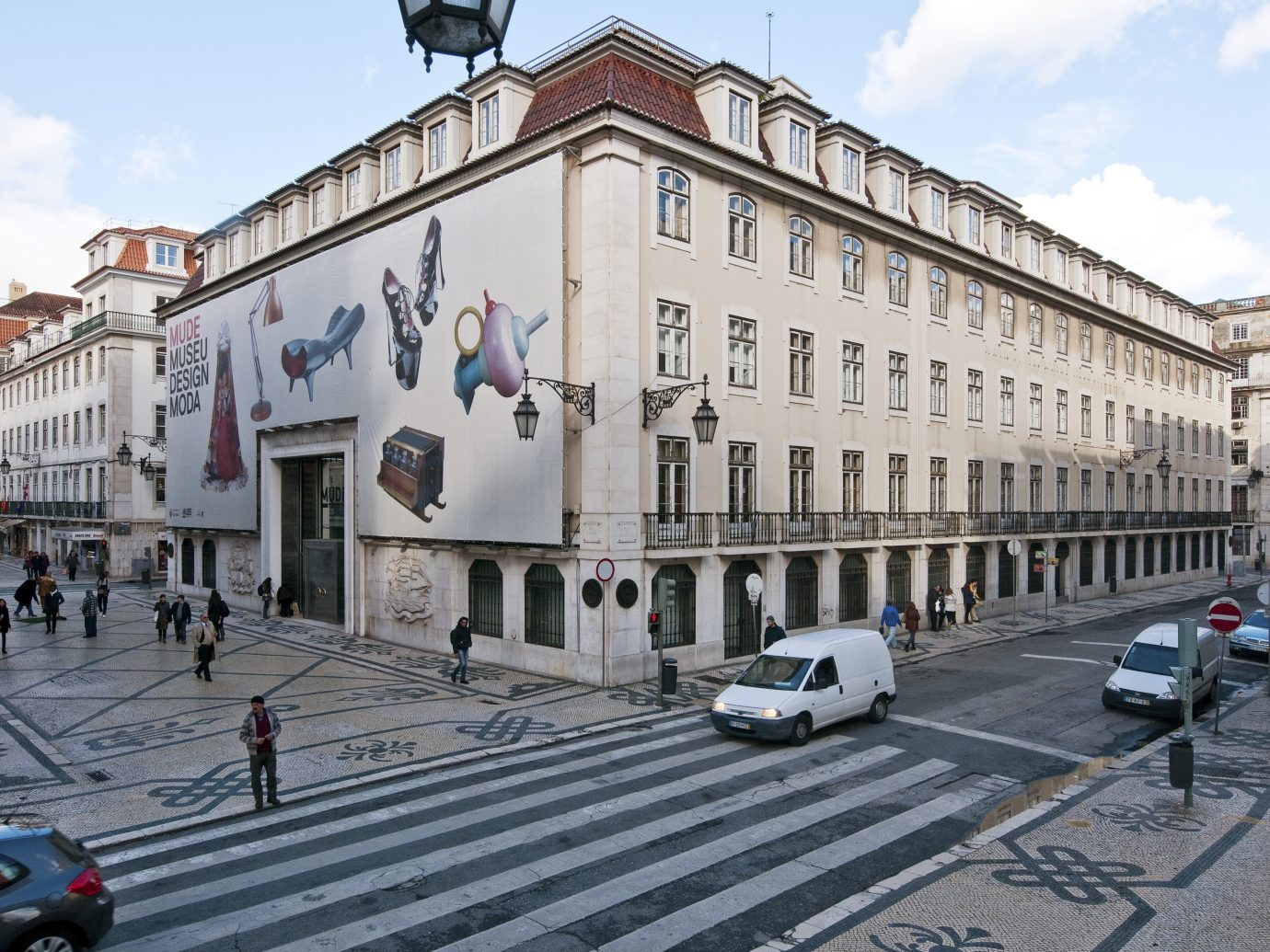 Exterior of MUDE Museum in Lisbon