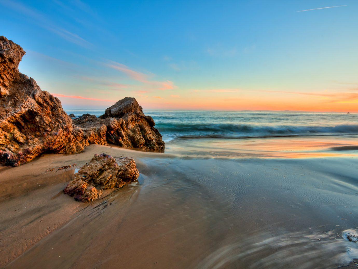 Seal Beach at sunset