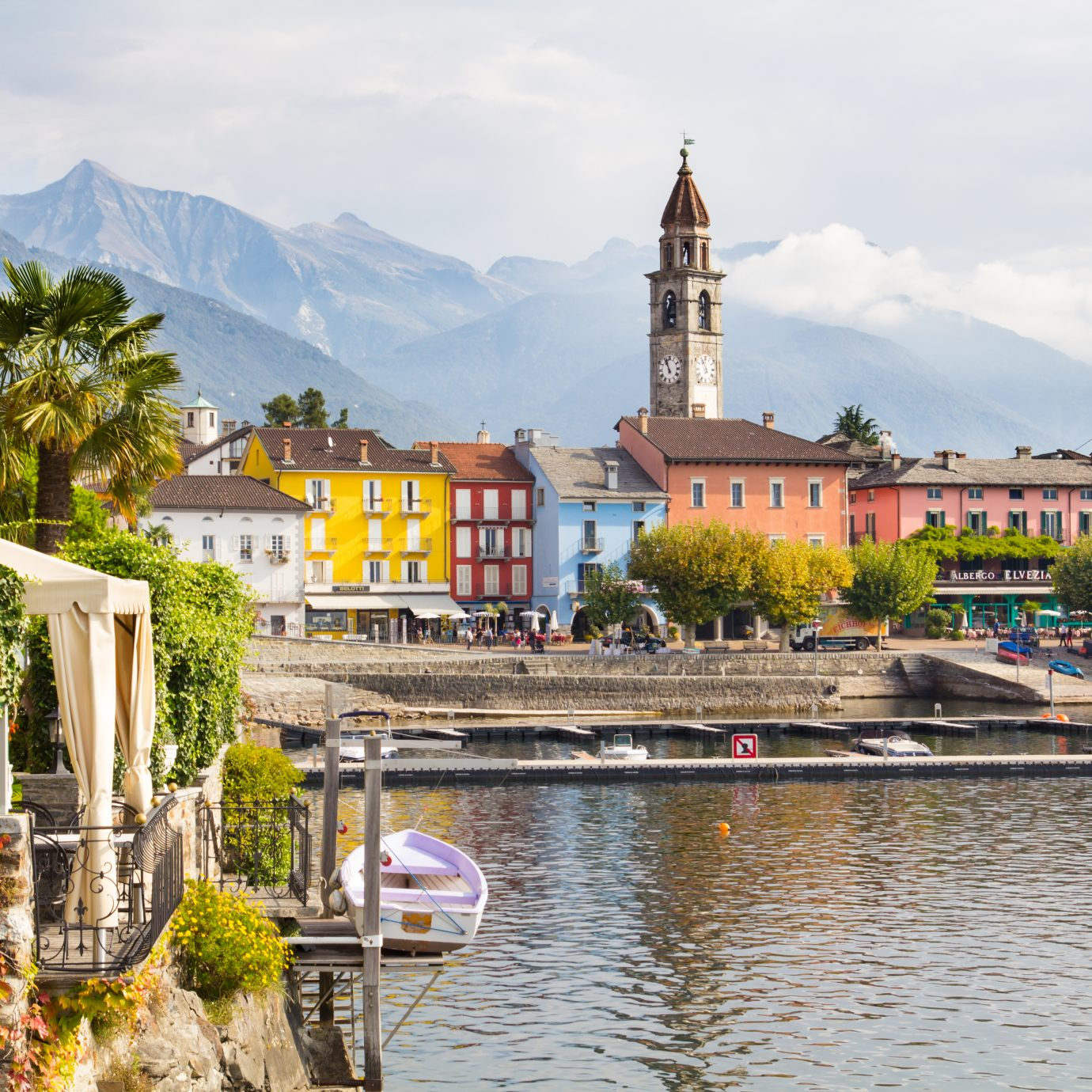 view of Ascona, Switzerland