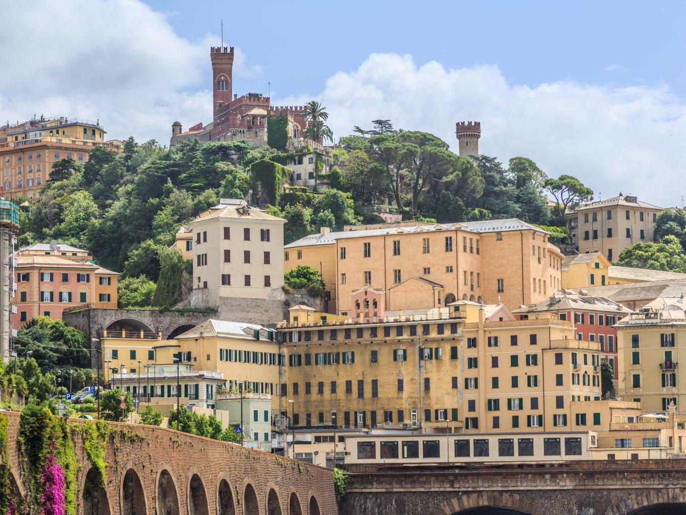 Castello d'Albertis castle in Genoa summer view