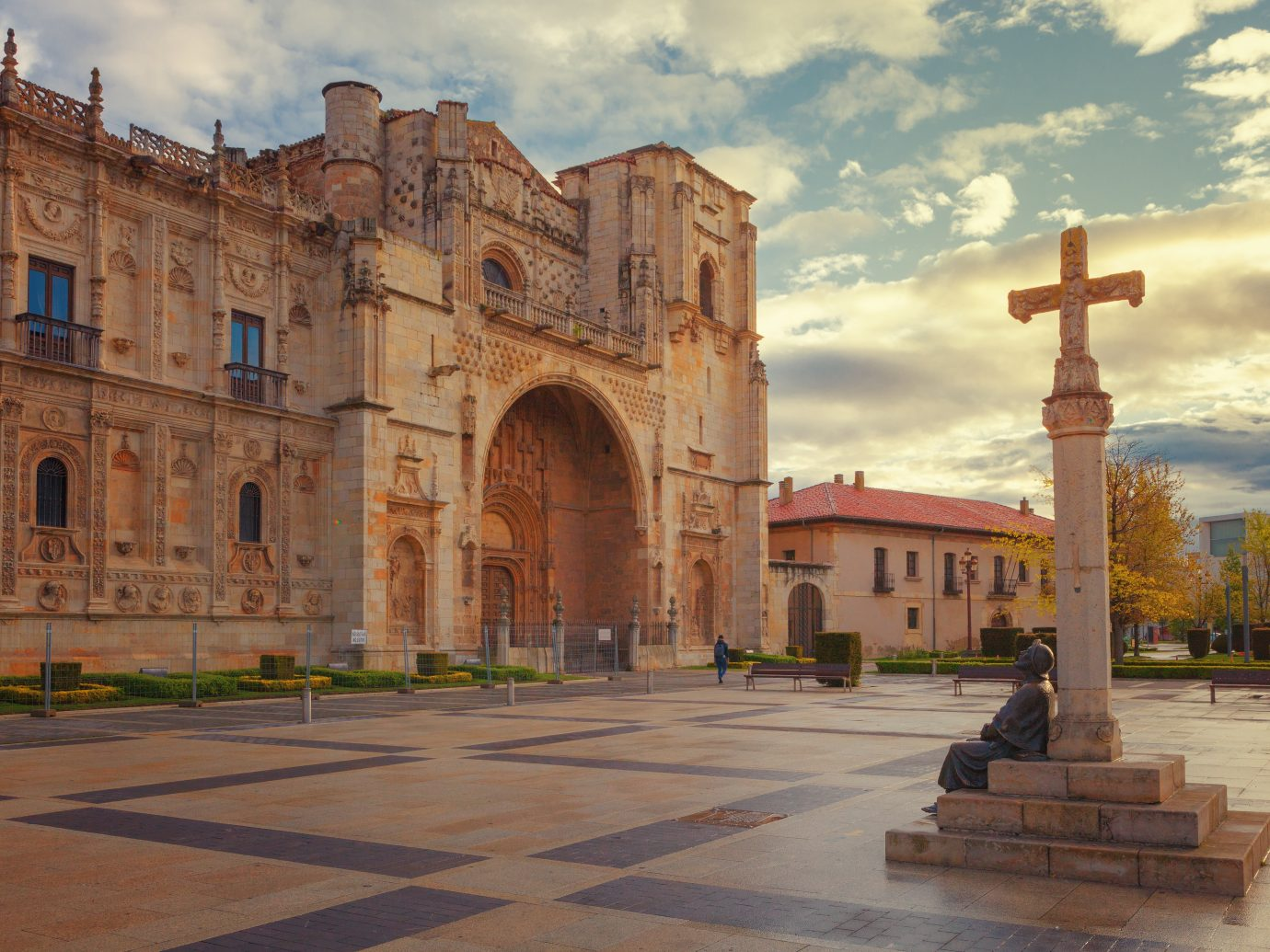 San Marcos, old hospital and convent for pilgrims of the Way of St. James, Leon, Spain