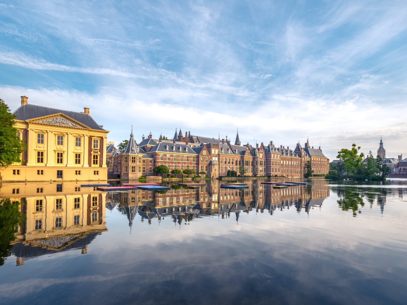 The Hofvijver Pond in The Hague, Netherlands