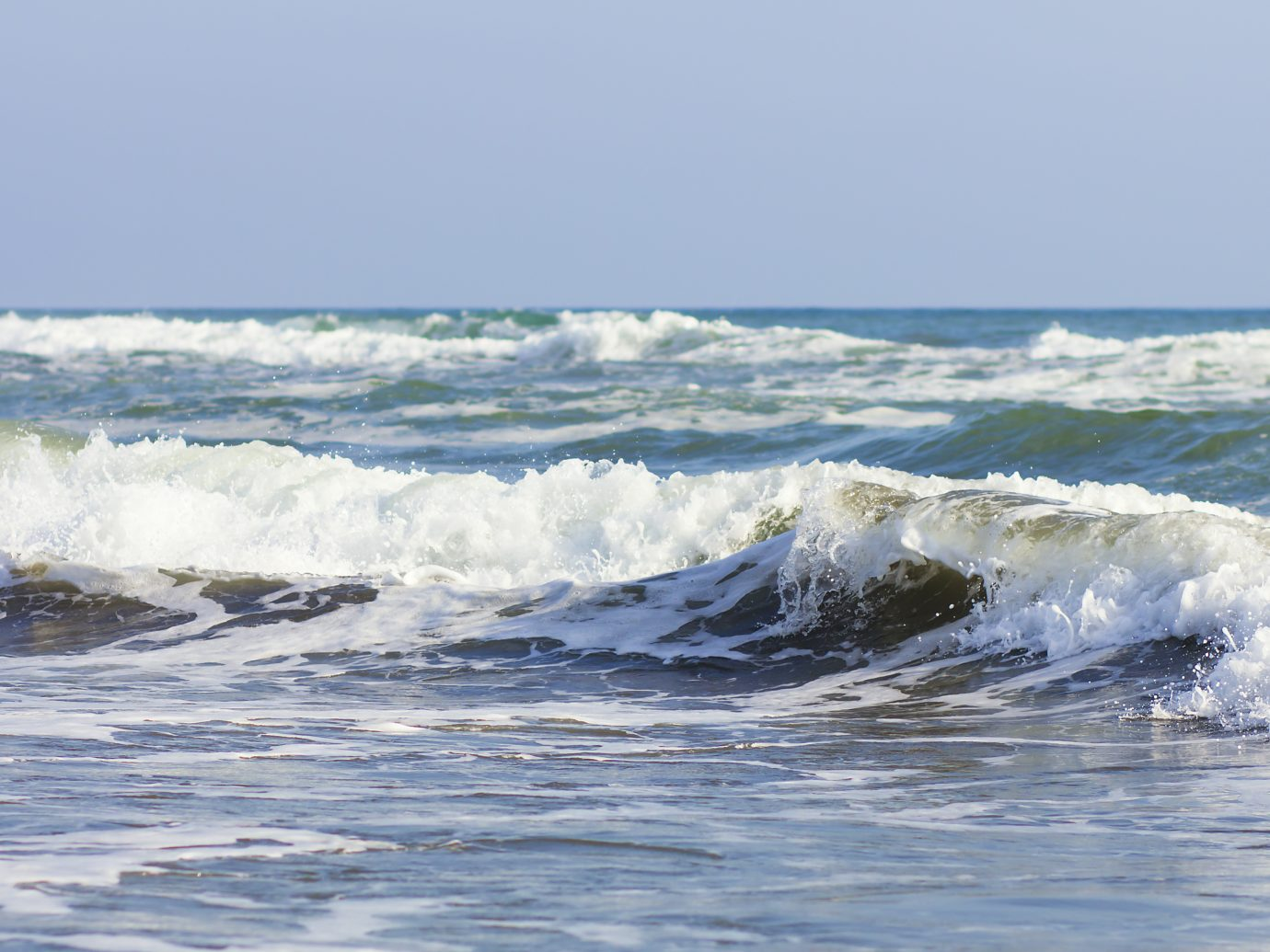 The waves at Seal Beach