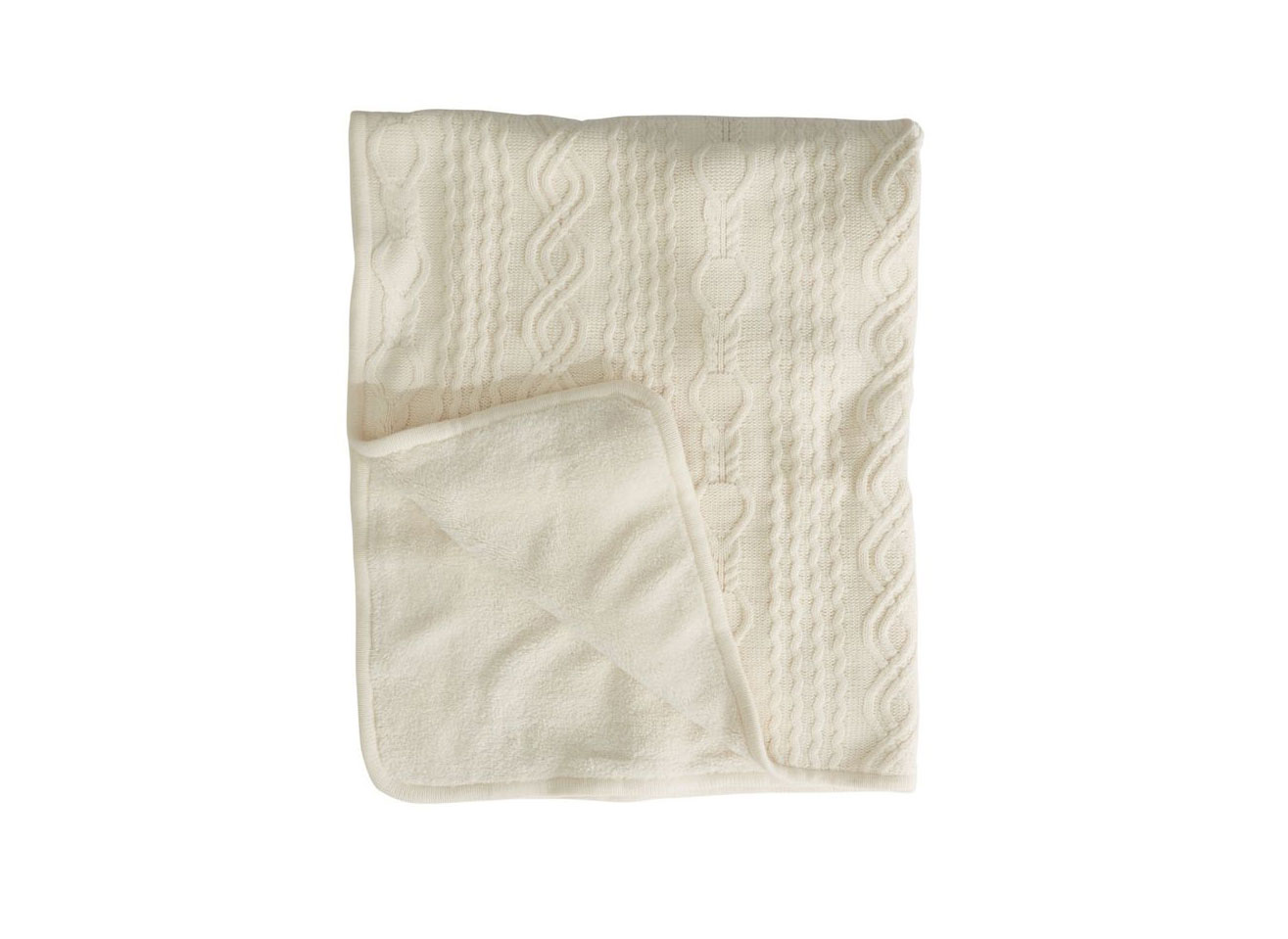 L.L.Bean Chunky Cabled Fleece Throw