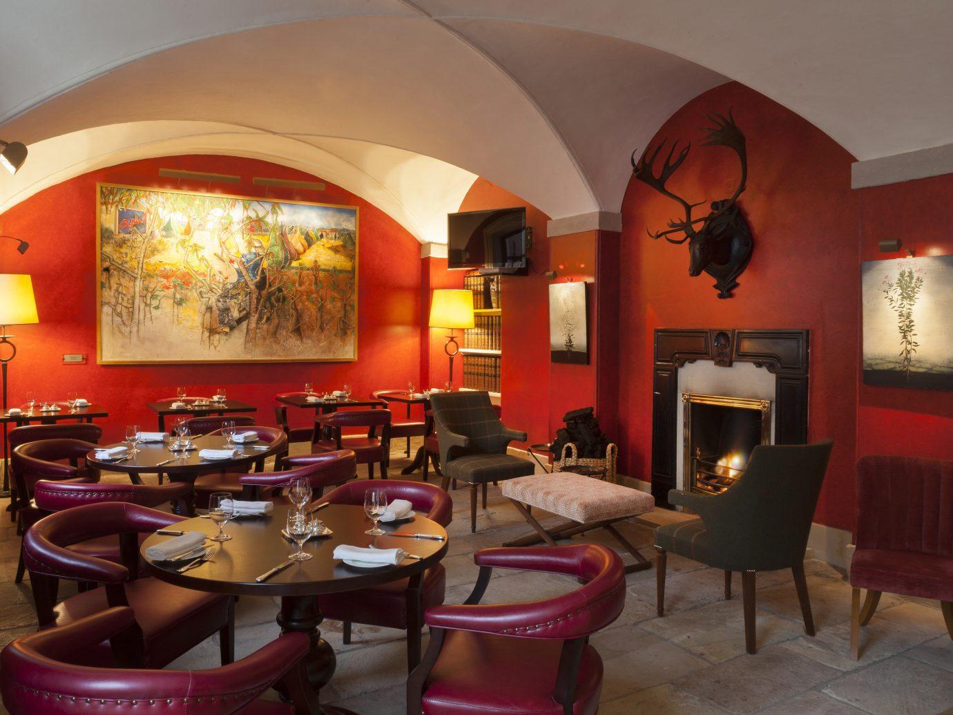 Dining room at Ballyfin in Ireland
