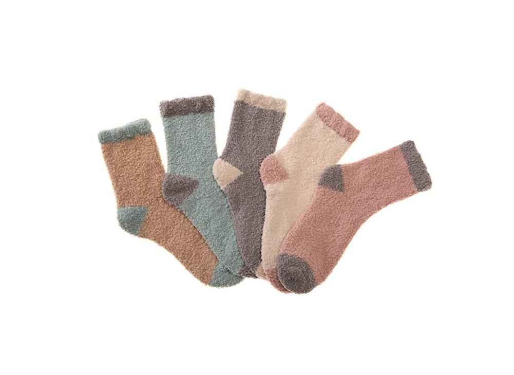 Fuzzy Socks: Wener Women's 5-Pair Microfiber Fuzzy Socks