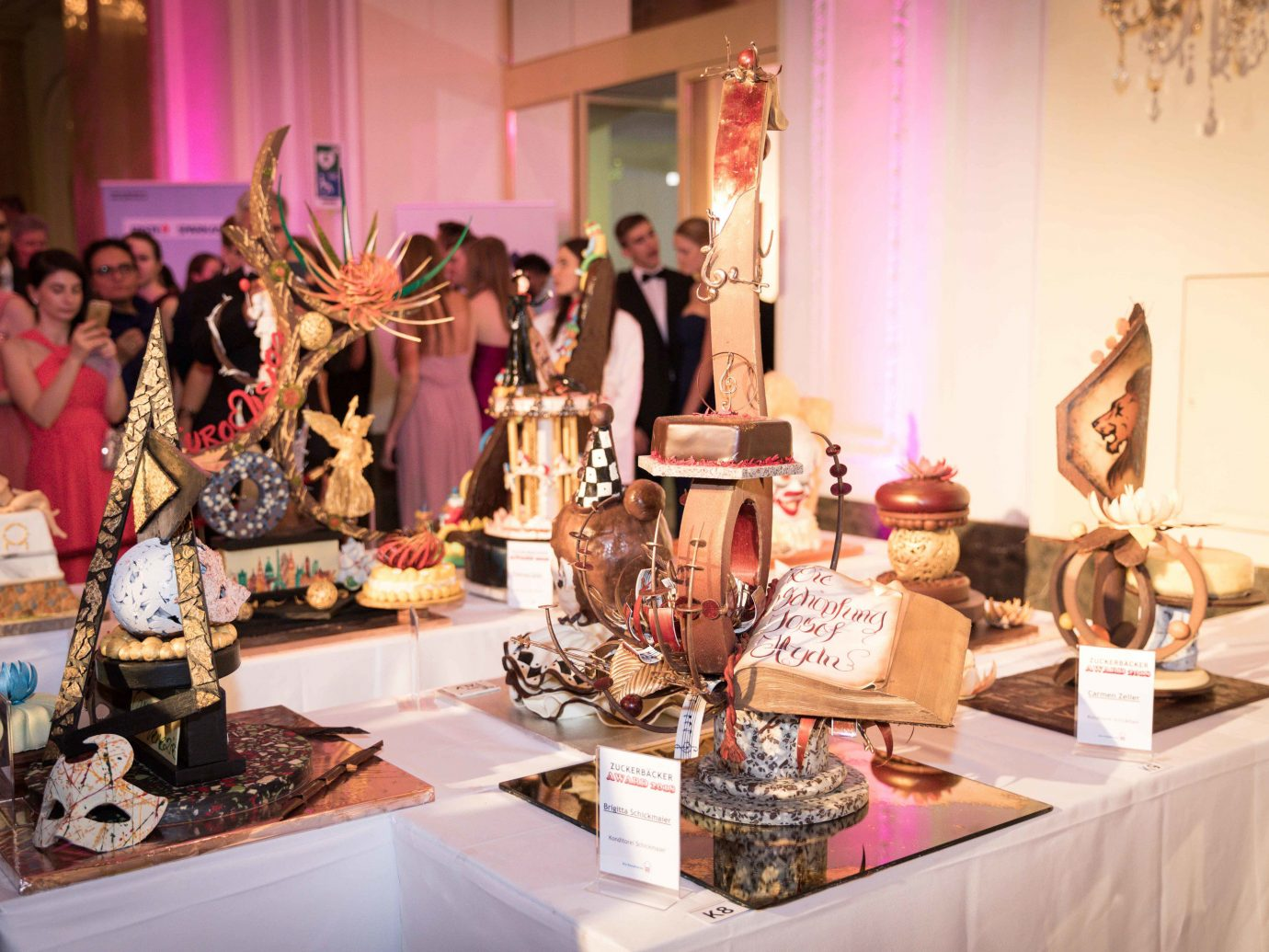 Sweets and a cake at Confectioners' Ball