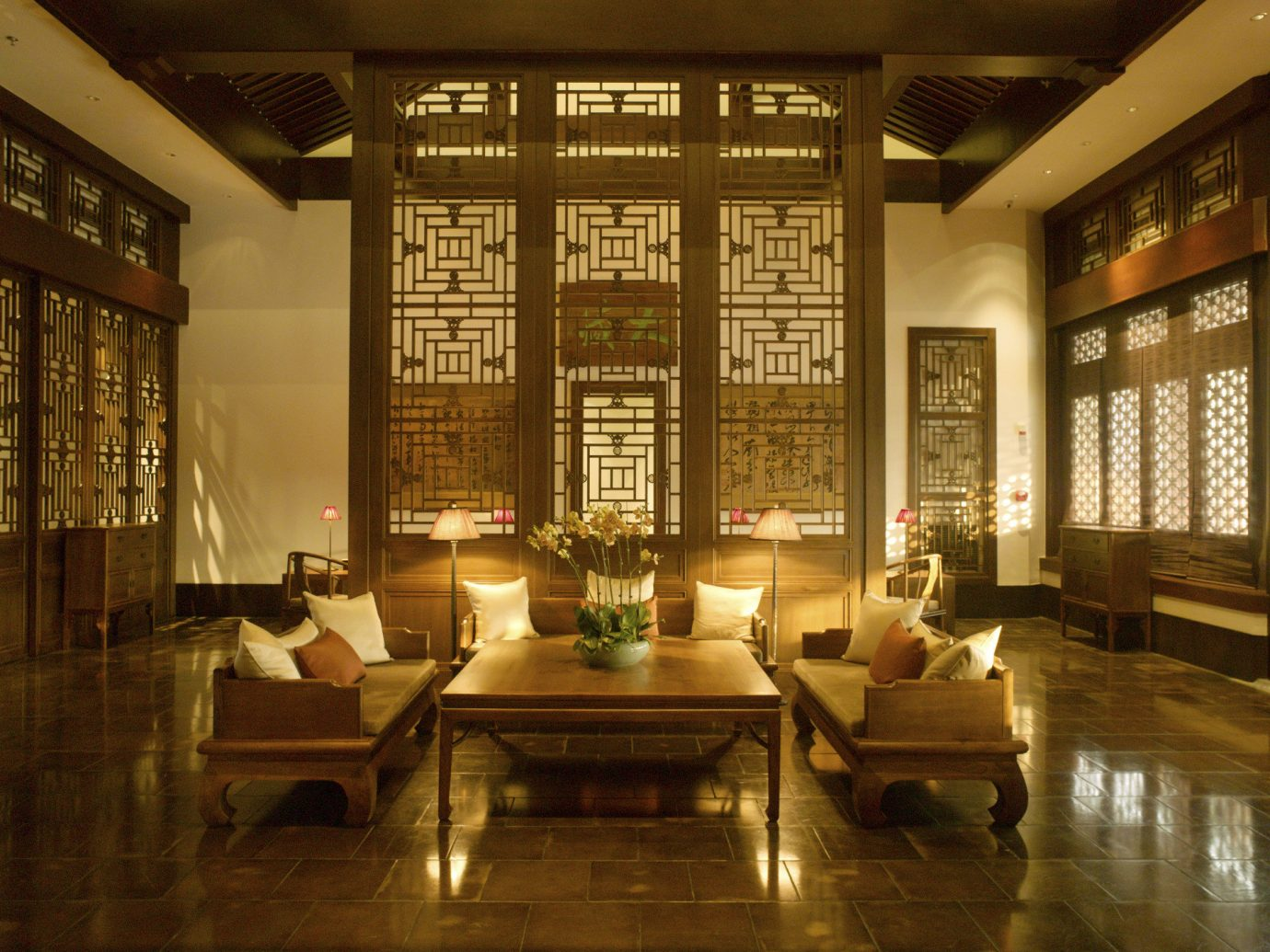 view of living room Aman Summer Palace in Beijing