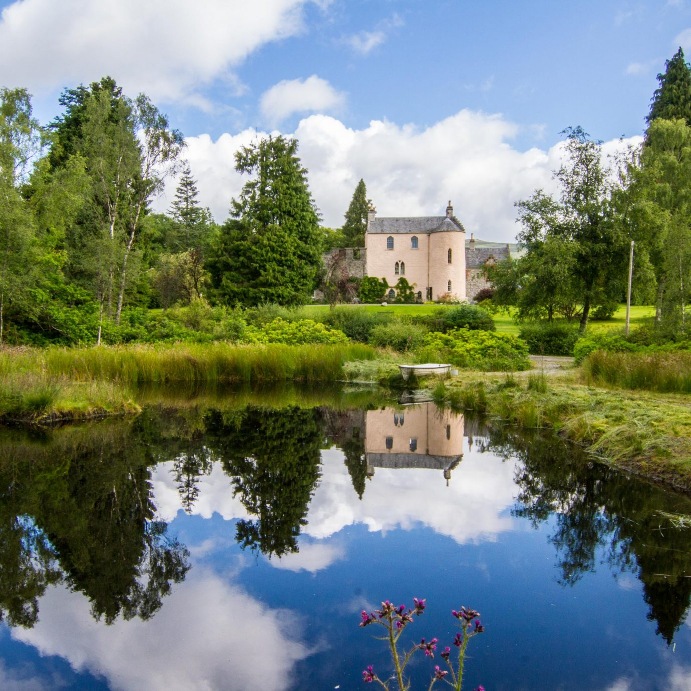 View of Duchray Castle in Scotland