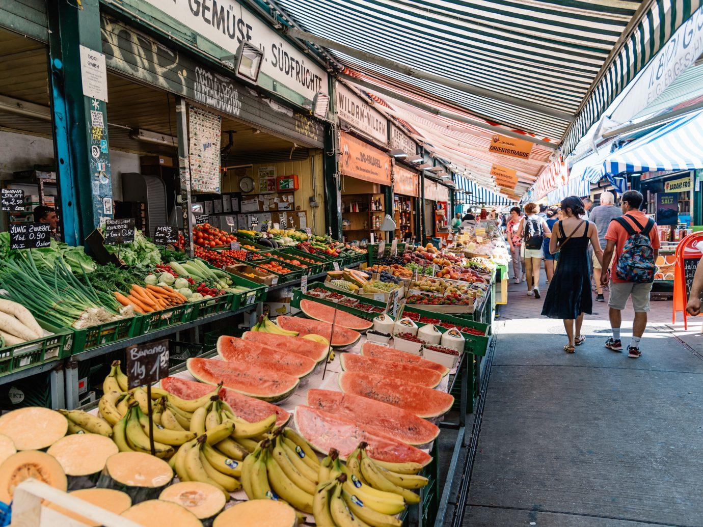 Fresh produce at Naschmarkt in Vienna