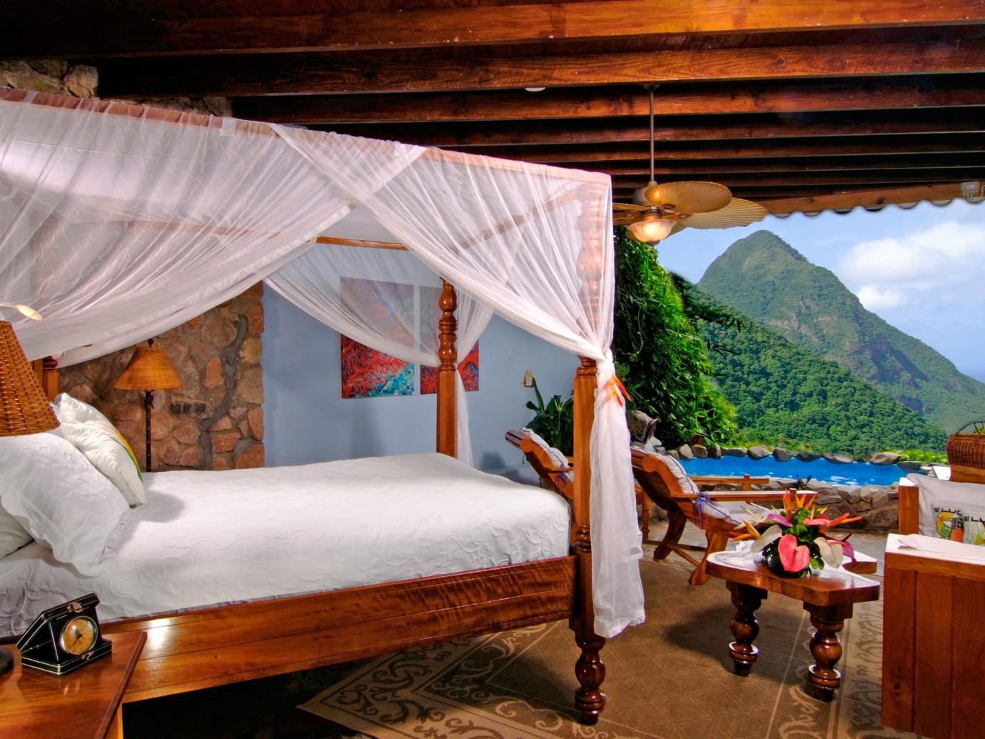 Open air room at Ladera Resort