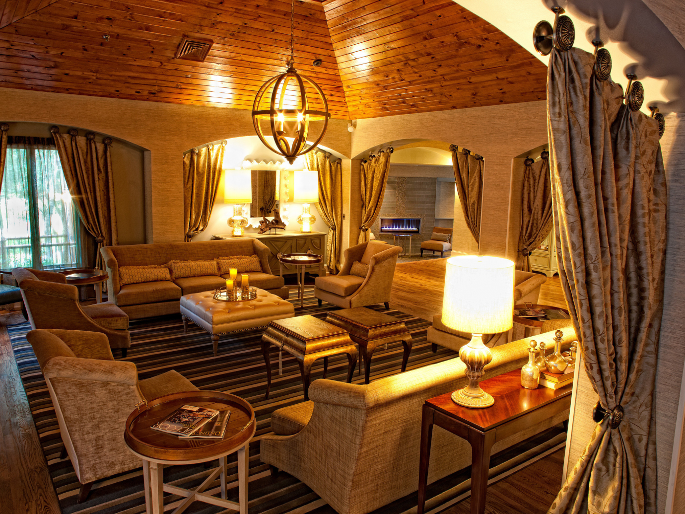 Living interior space at a suite at Chateau Elan Winery & Resort