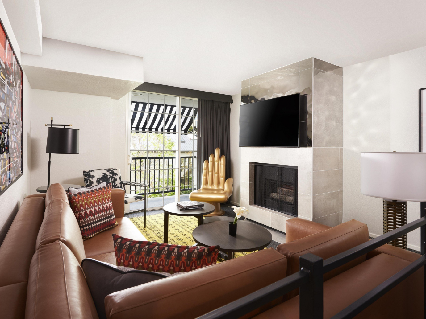 Interior living space at a suite Montrose