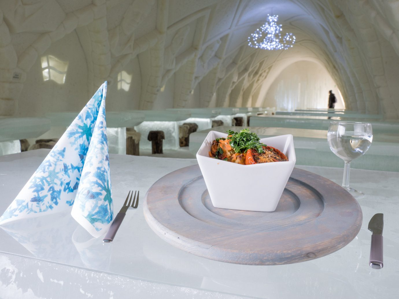 dish at The Snowcastle Of Kemi, Finland