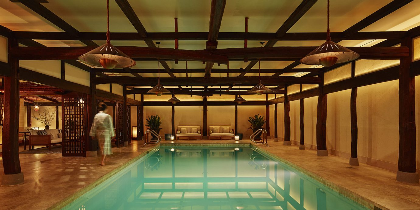 Swimming pool at Shibui spa in The Greenwich Hotel