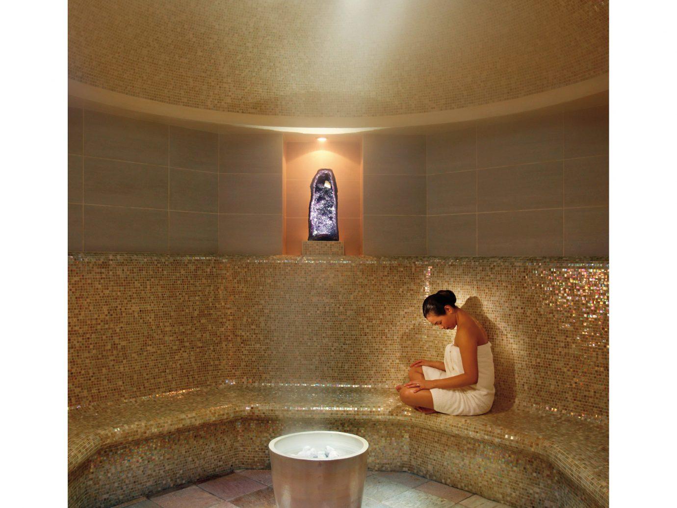 Amethyst crystal steam room at the Mandarin Oriental in NYC