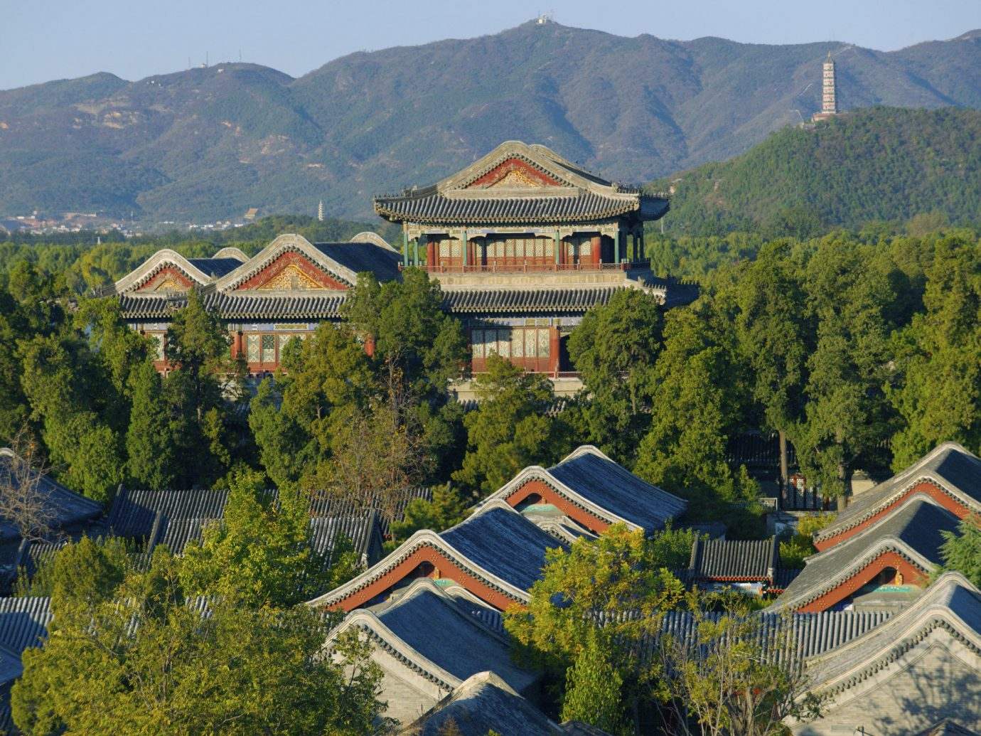 Arial view of Aman Summer Palace in Beijing