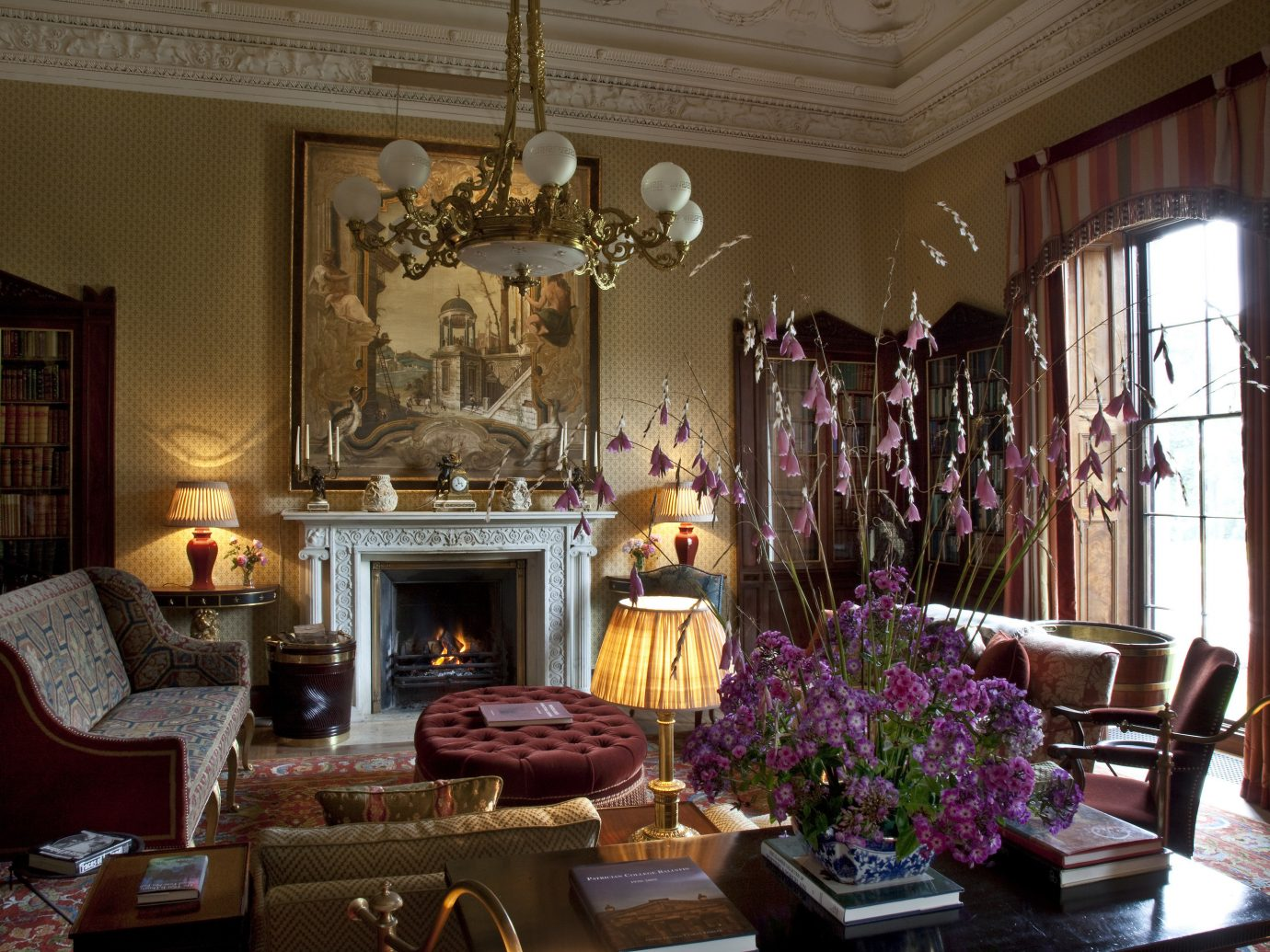 Living room at Ballyfin in Ireland