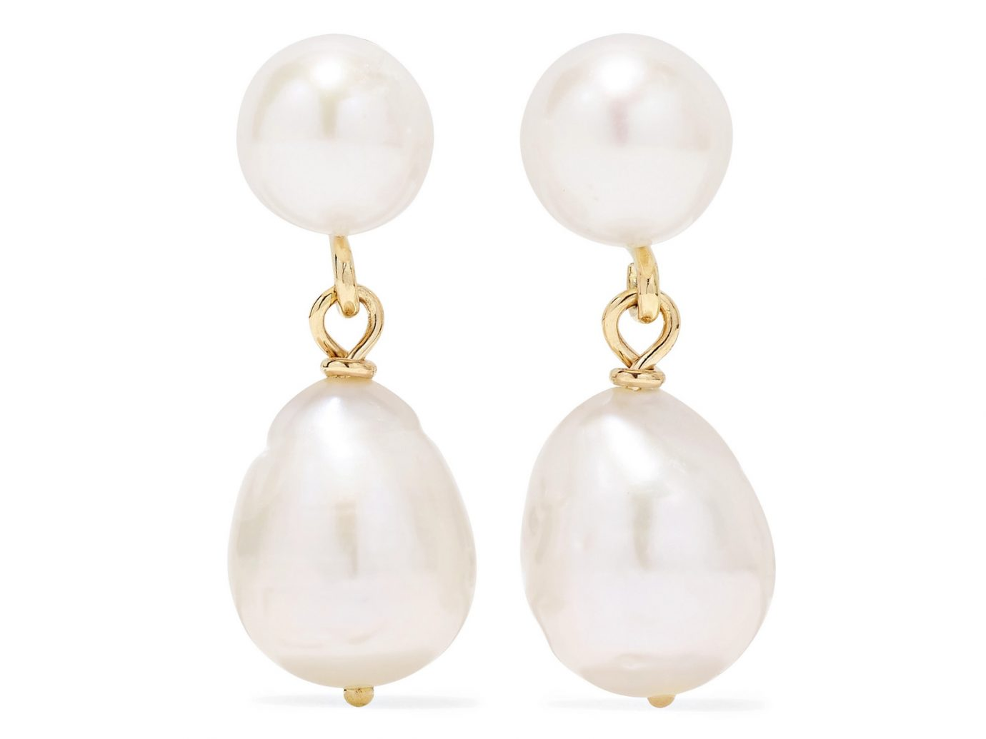 Natasha Schweitzer Mia gold pearl earrings