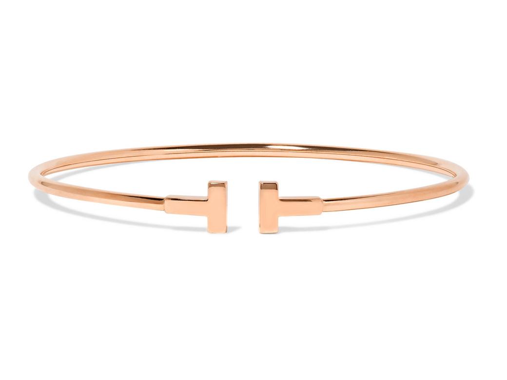 Tiffany & Co. T Wire narrow 18-karat rose gold cuff