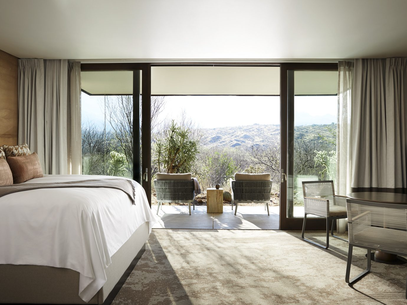 guestroom and patio at Miraval Resort and Spa, Tucson, AZ
