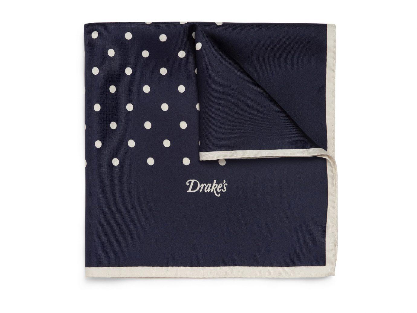 Drake's Polka-Dot silk pocket square