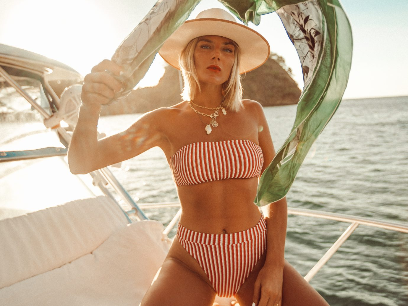 Girl on a boat in Costa Rica
