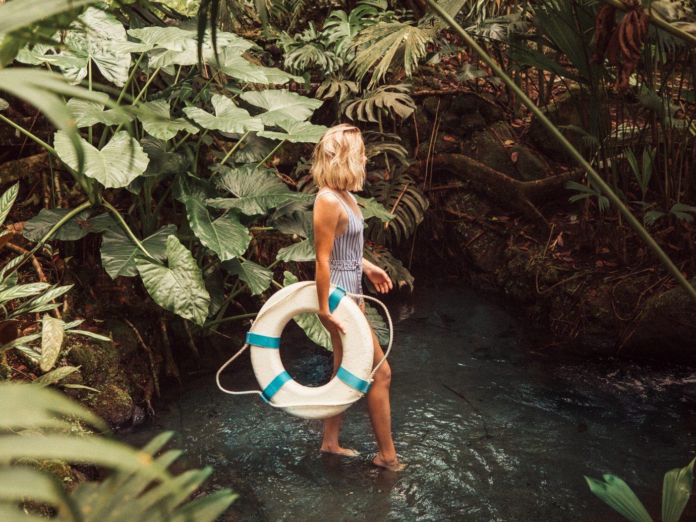 Woman in the jungle in Costa RIca