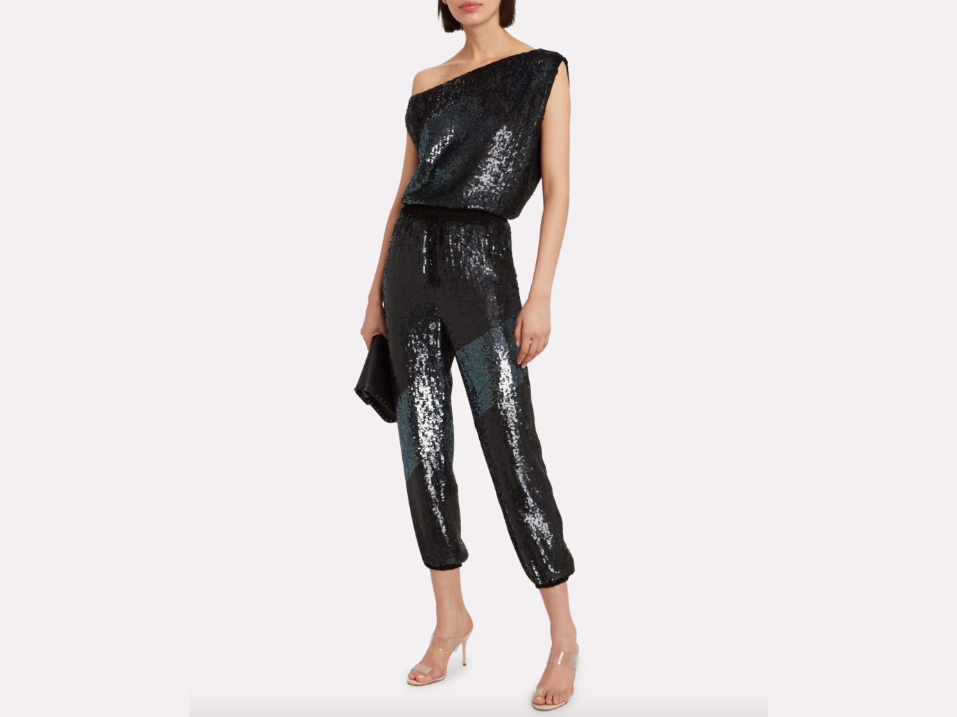 RETROFÊTE Michelle Off-The-Shoulder Sequin Top