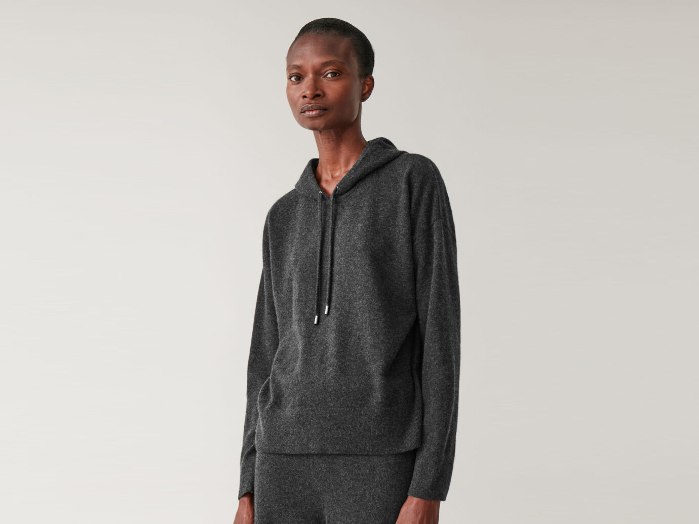 COS Hooded Cashmere Sweater