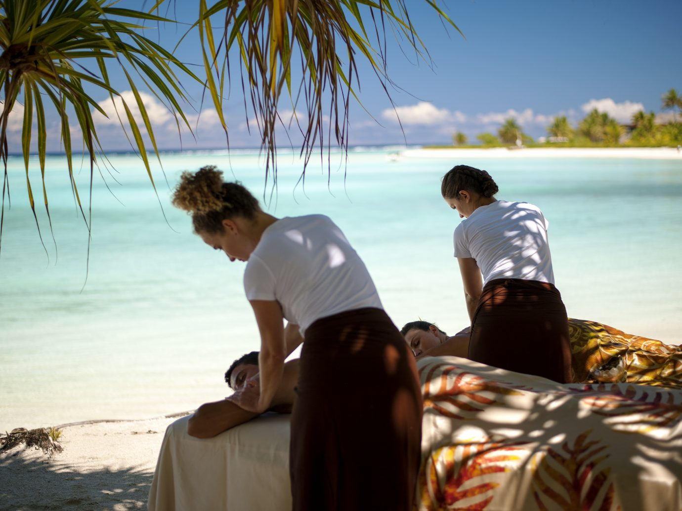 massage on the beach at The Brando, Tetiaroa, Tahiti