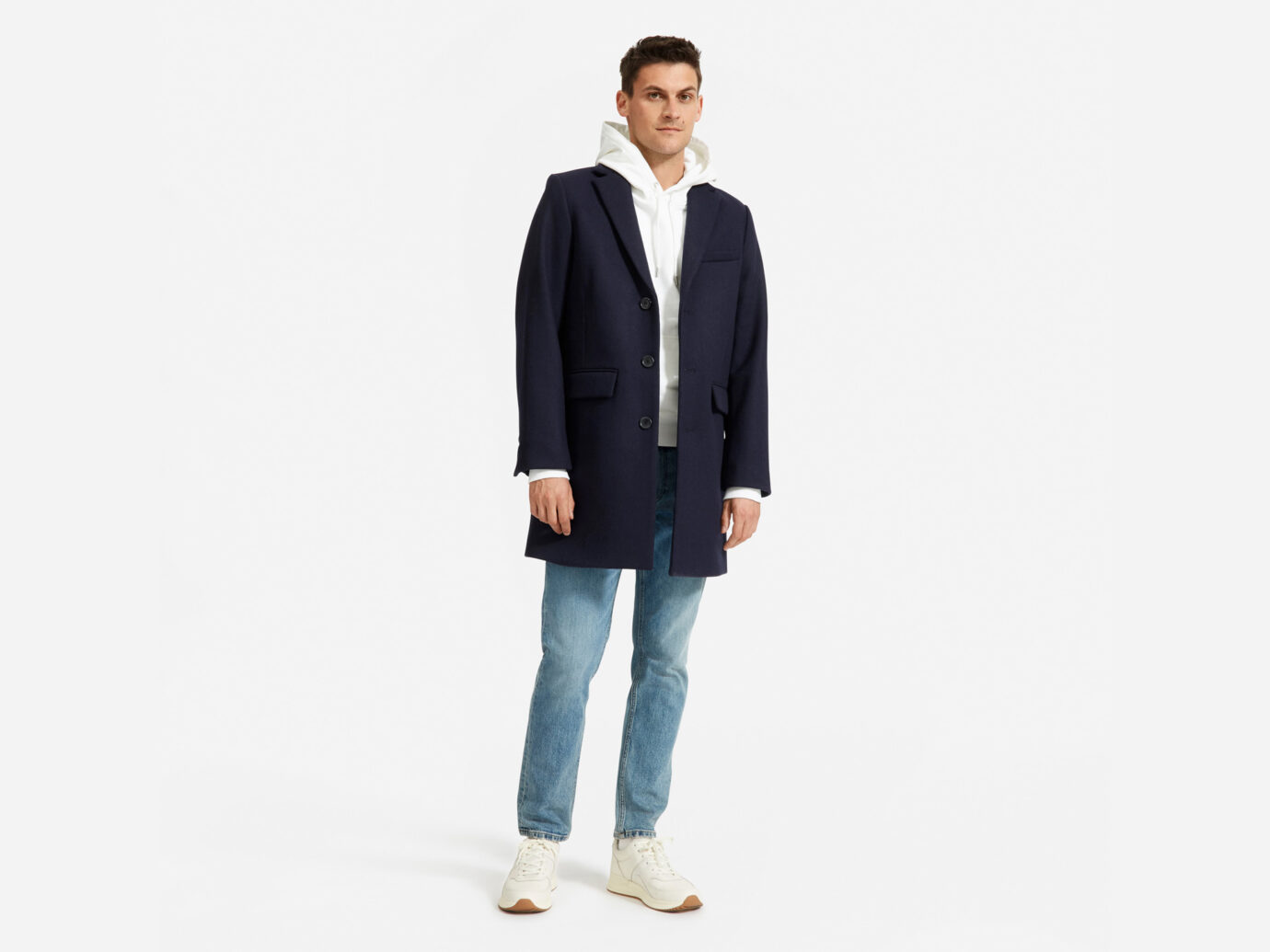 Everlane Men's ReWool Overcoat