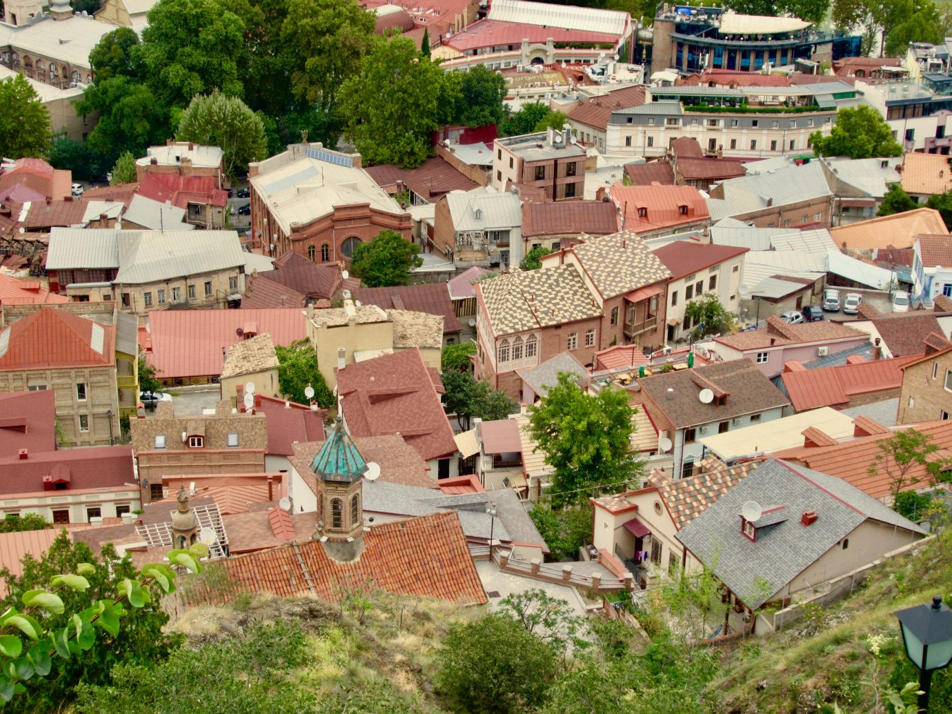 Overhead view of Old Town in Tbilisi